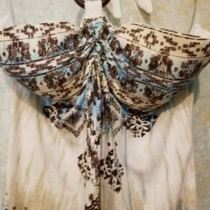 NWT Almost Famous Journey to Brasil Halter Top LRG
